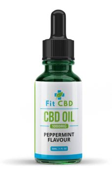 Fit CBD Tincture Oil 1000mg CBD Peppermint 30ml